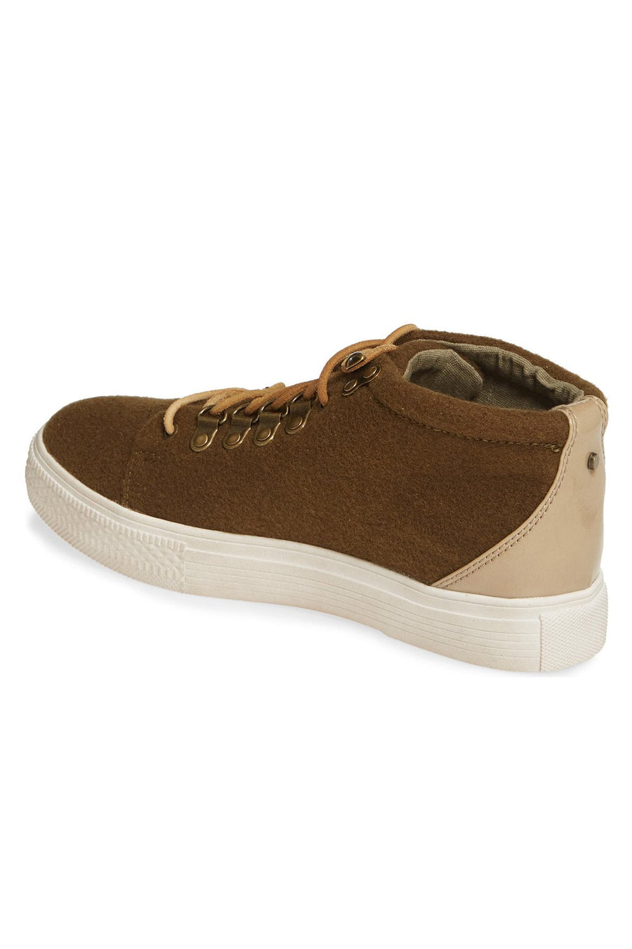 Dove Felt Wool Green High Top Sneaker Master