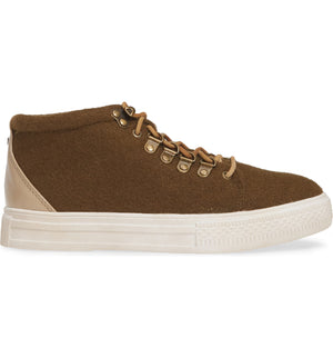 Dove Felt Wool Green High Top Sneaker