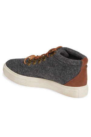 Dove Felt Wool Grey High Top Sneaker Back