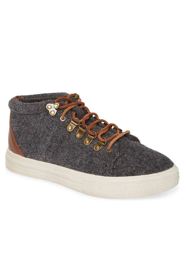 Dove Felt Wool Grey High Top Sneaker Master