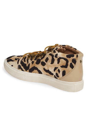 Dove Leopard Print High Top Sneaker Back