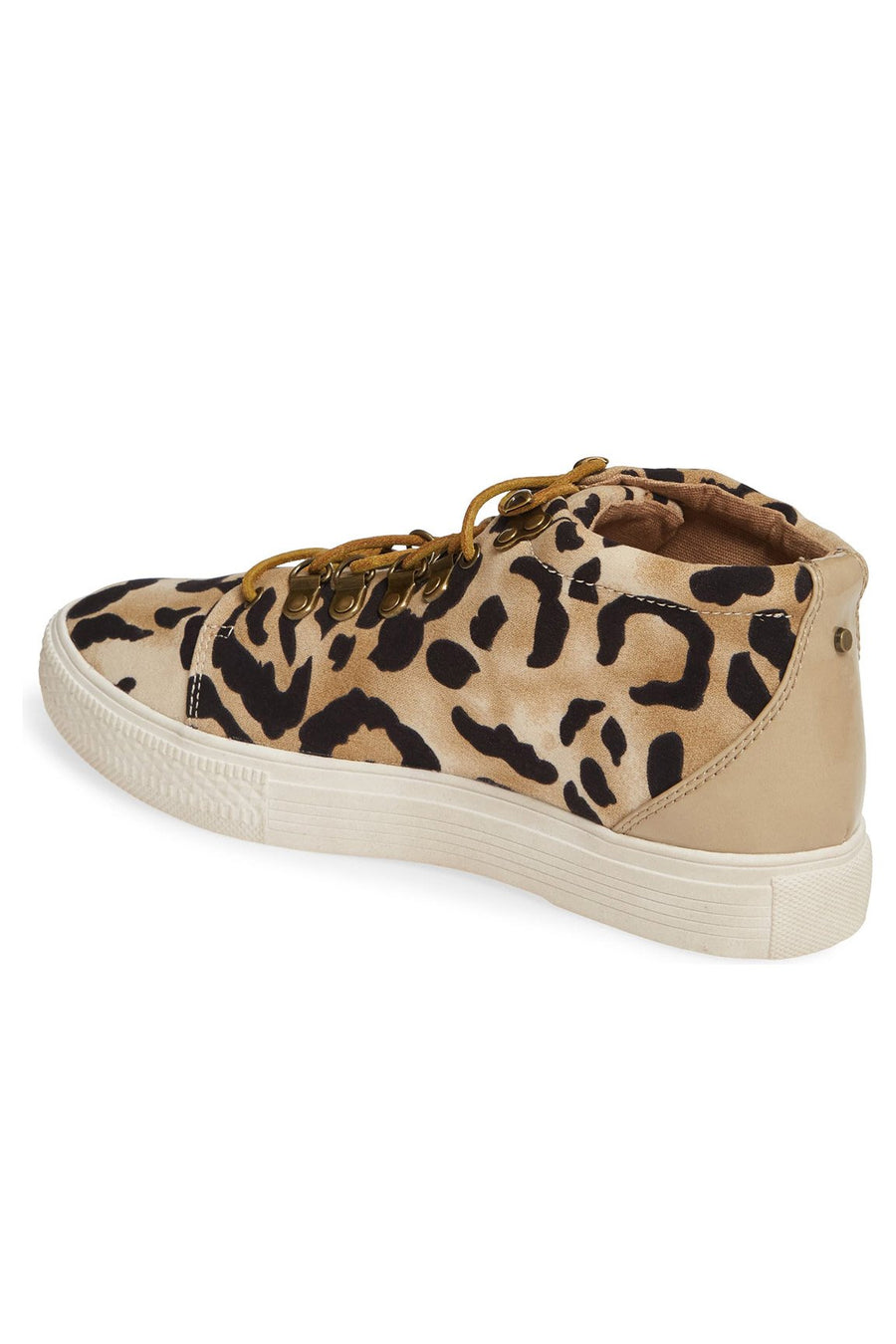 Dove Leopard Print High Top Sneaker Master