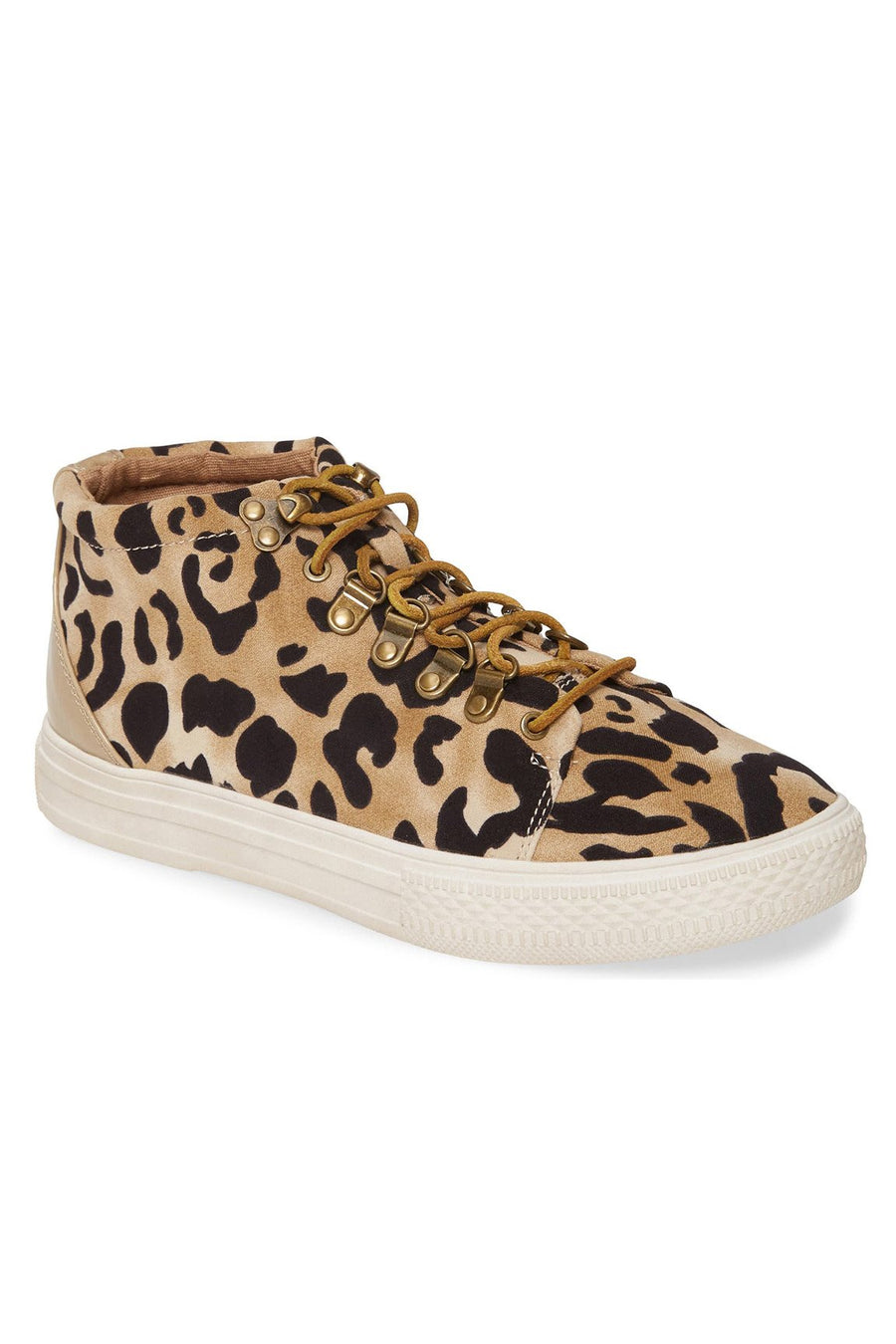 Dove Leopard Print High Top Sneaker