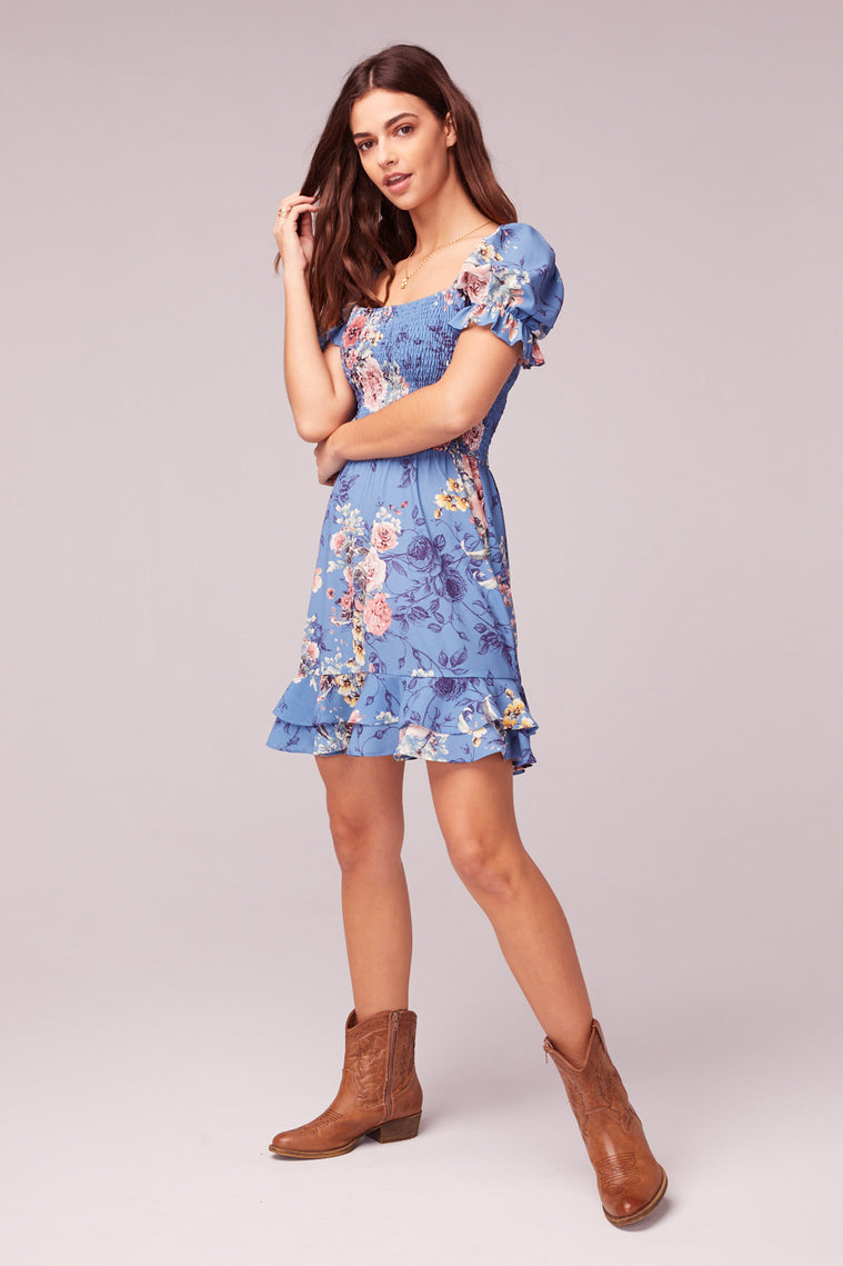 Dream Floral Print Mini Dress Side2