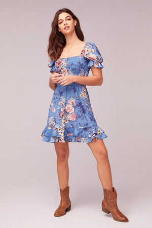 Dream Floral Print Mini Dress Front