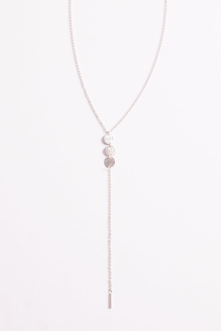 Drop It low Triple Disc Lariat Necklace