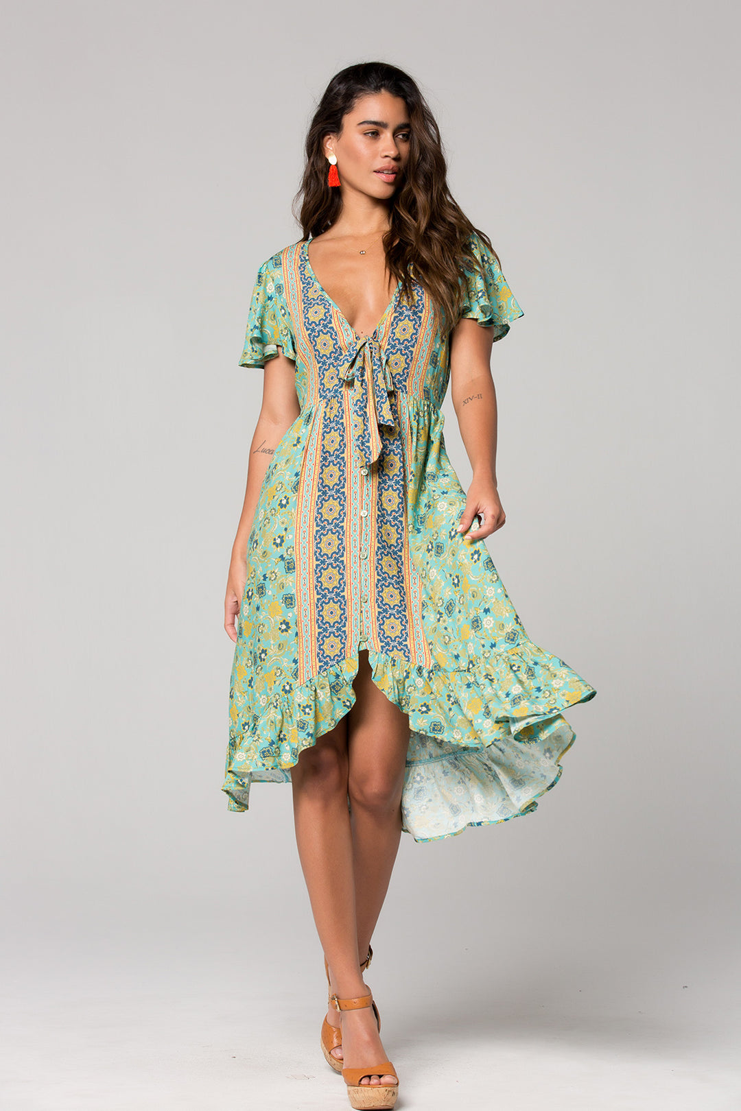 Dublin Floral Print Surplice Dress Master