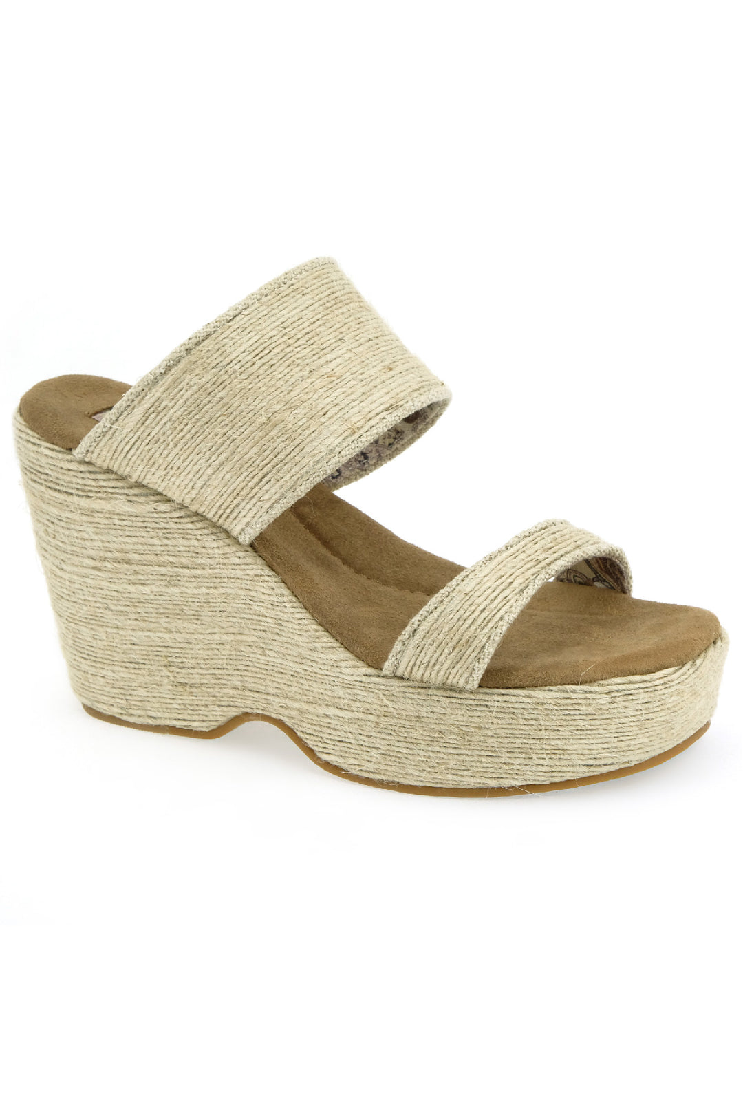 Dusk Vegan Mini Rope Natural Wedge Slide Sandal Master