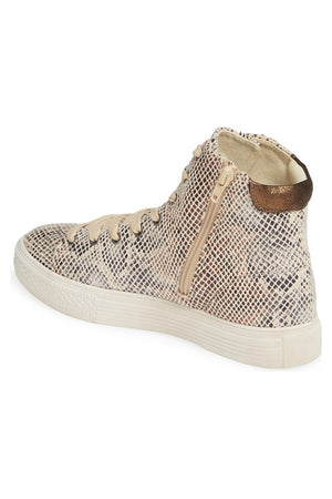 Eagle Micro Snake Print Natural High Top Sneaker Back