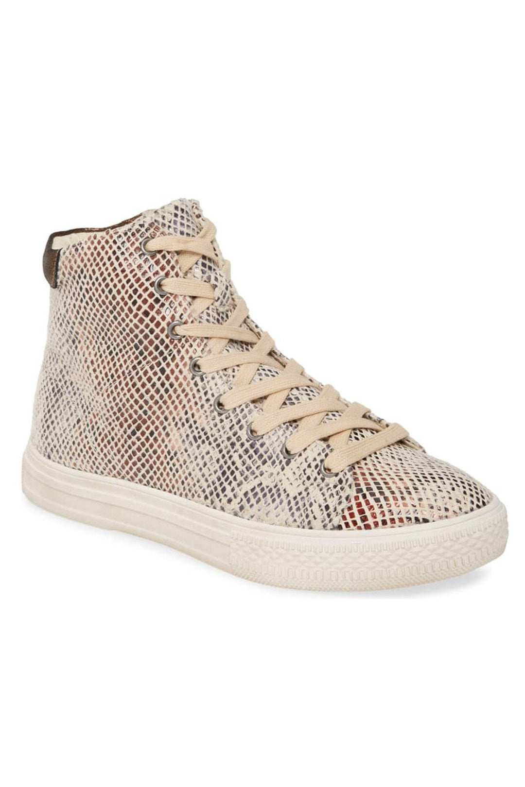 Eagle Micro Snake Print Natural High Top Sneaker
