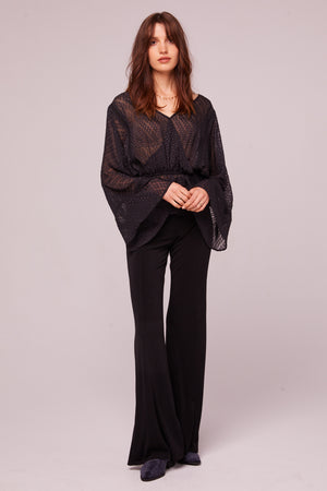 Electrice Ave Sheer Faux Wrap Blouse Detail