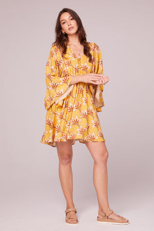 Ella Golden Batwing Mini Dress Master
