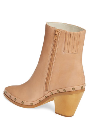 Empire Natural Leather Studded Booties Back