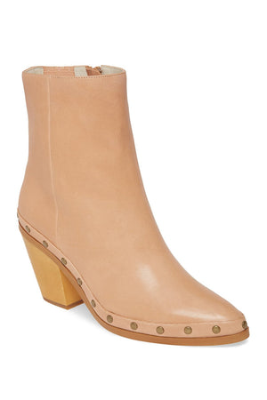 Empire Natural Leather Studded Booties Master