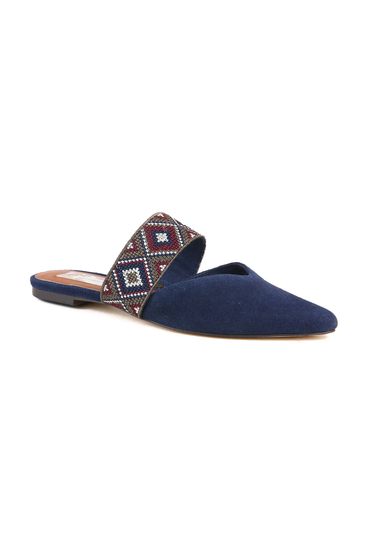 Enchanted Navy Suede Mule Master