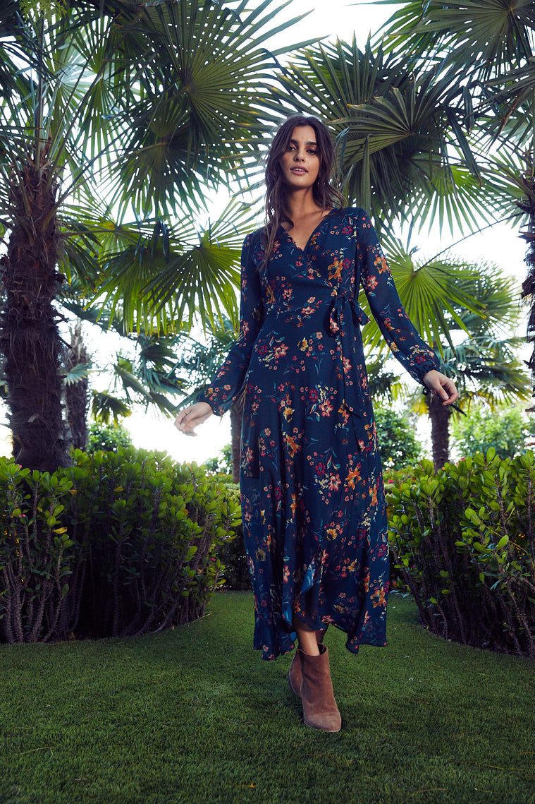 Jacey Floral Wrap Dress