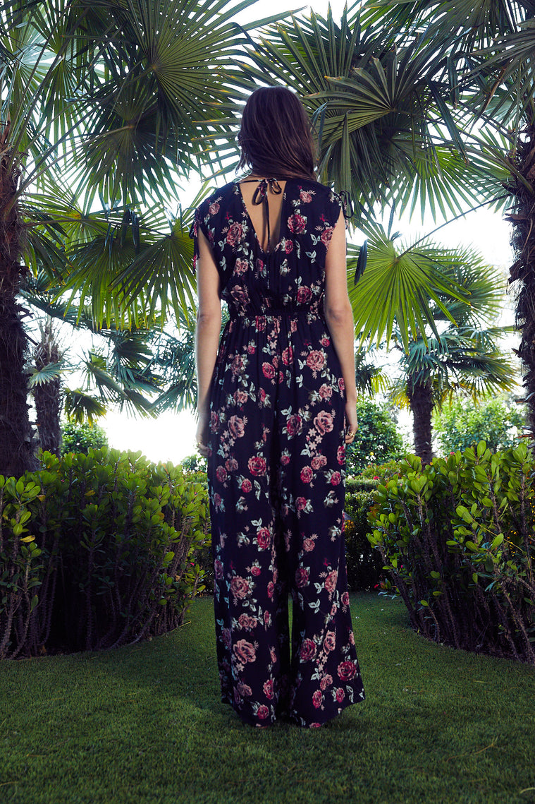 Ruby Wide Leg Floral Jumpsuit
