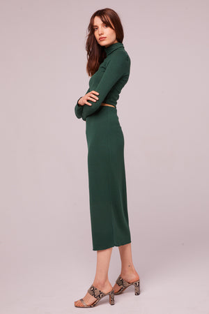 Fairfax Ribbed Pencil Skirt Side