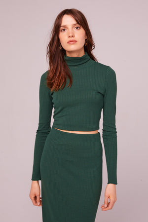 Fairfax Ribbed Turtleneck Crop Top Master
