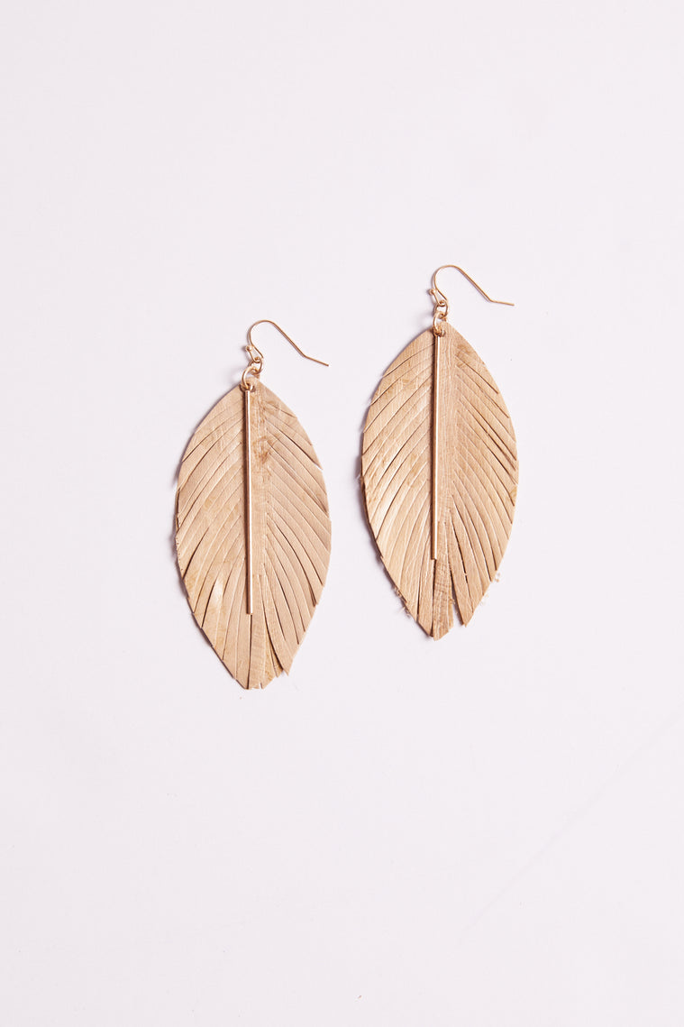 Falcon Feather Drop Gold Earrings Master