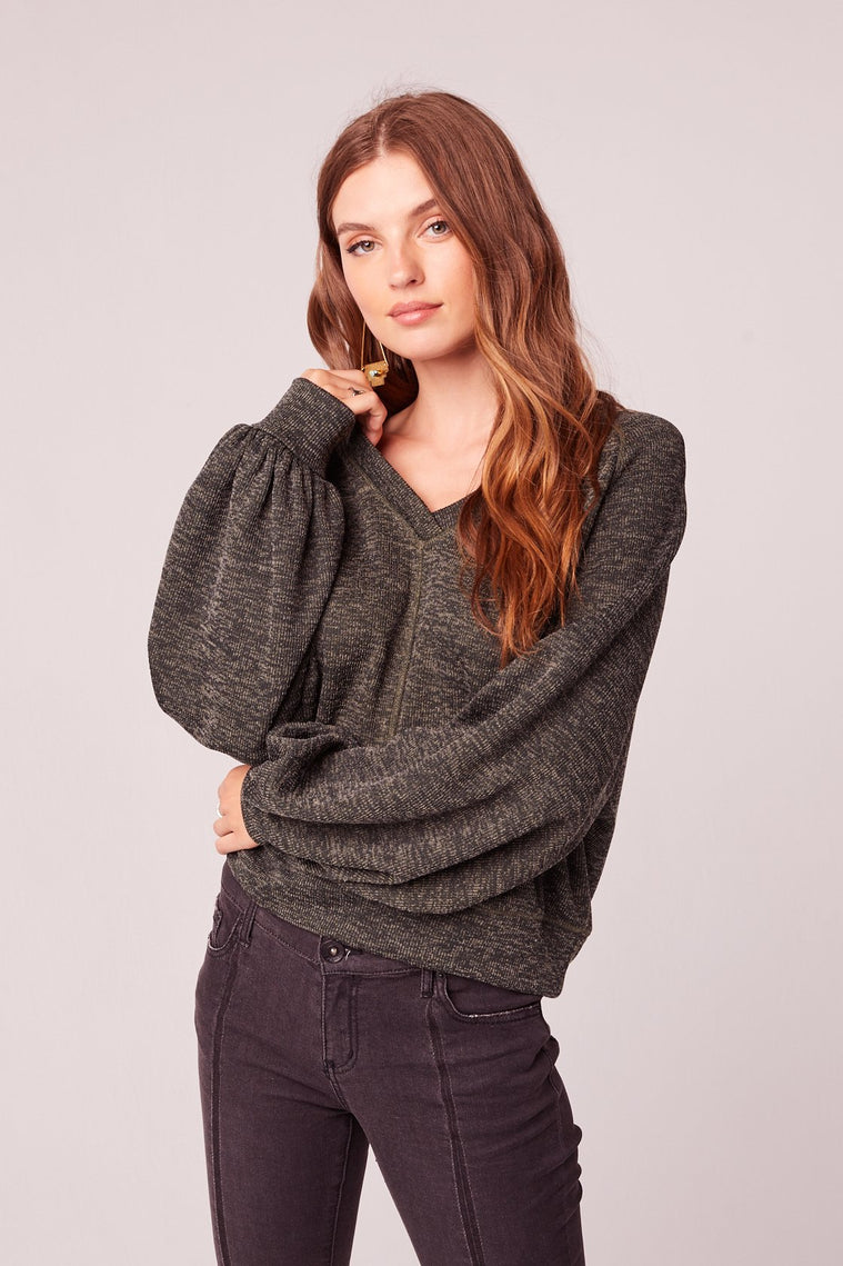 Fantastique Olive V Neck Sweater