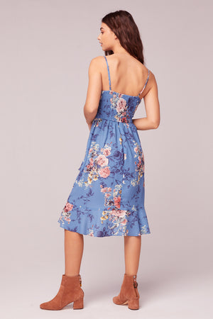 Flower In The Sun Midi Dress Back2