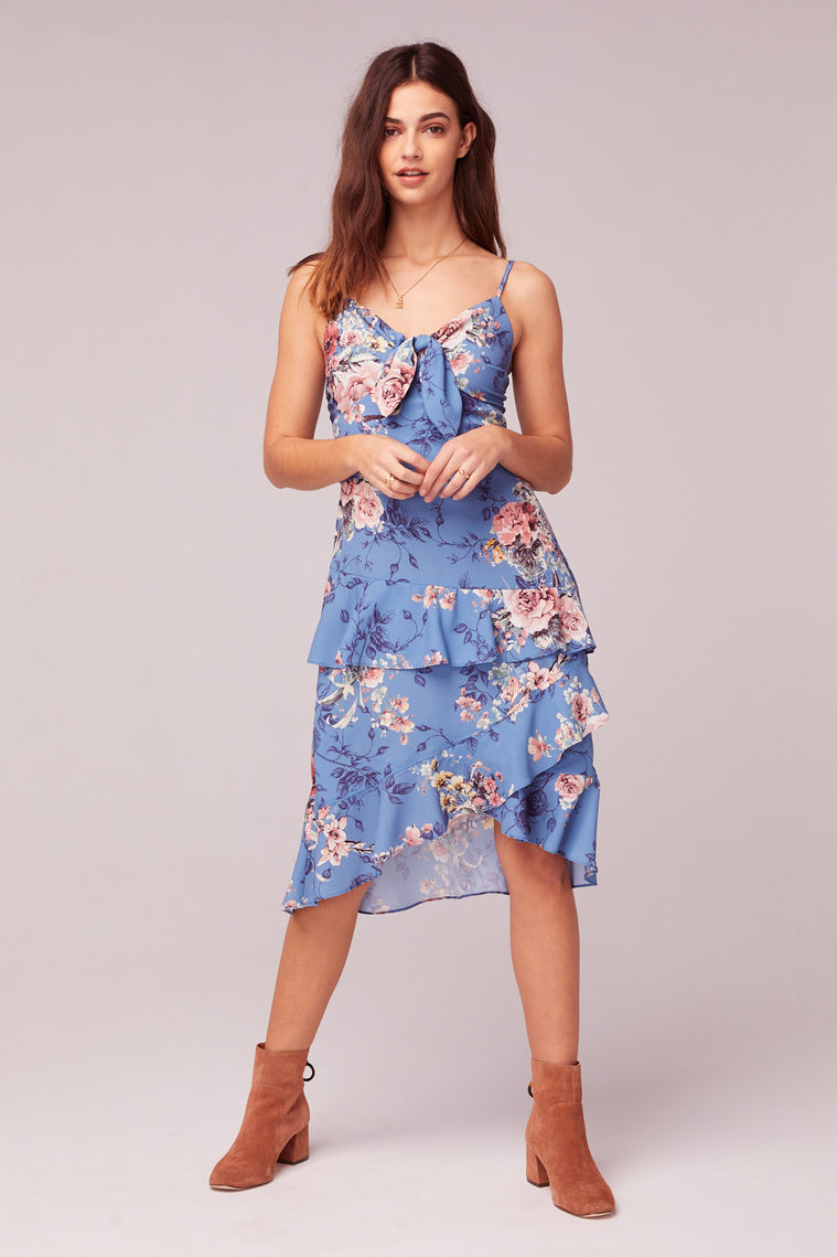 Flower In The Sun Midi Dress Front