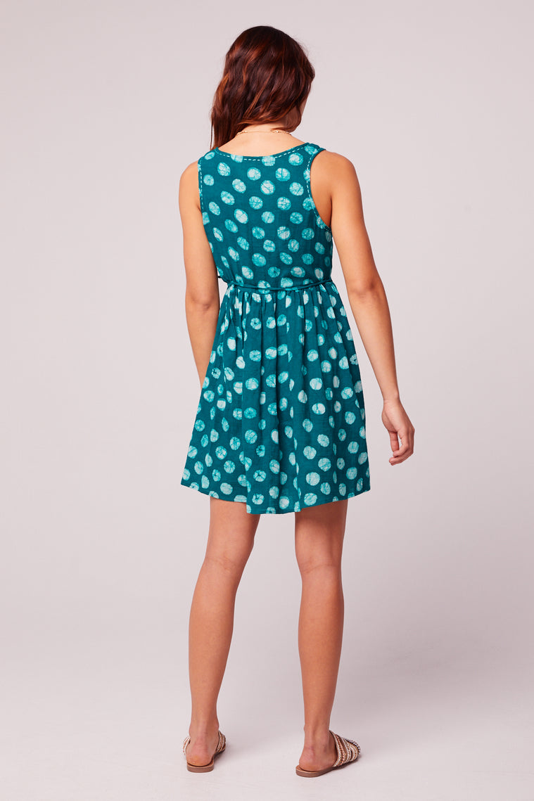 Gertrude Batik Green Dot Baby Doll Dress