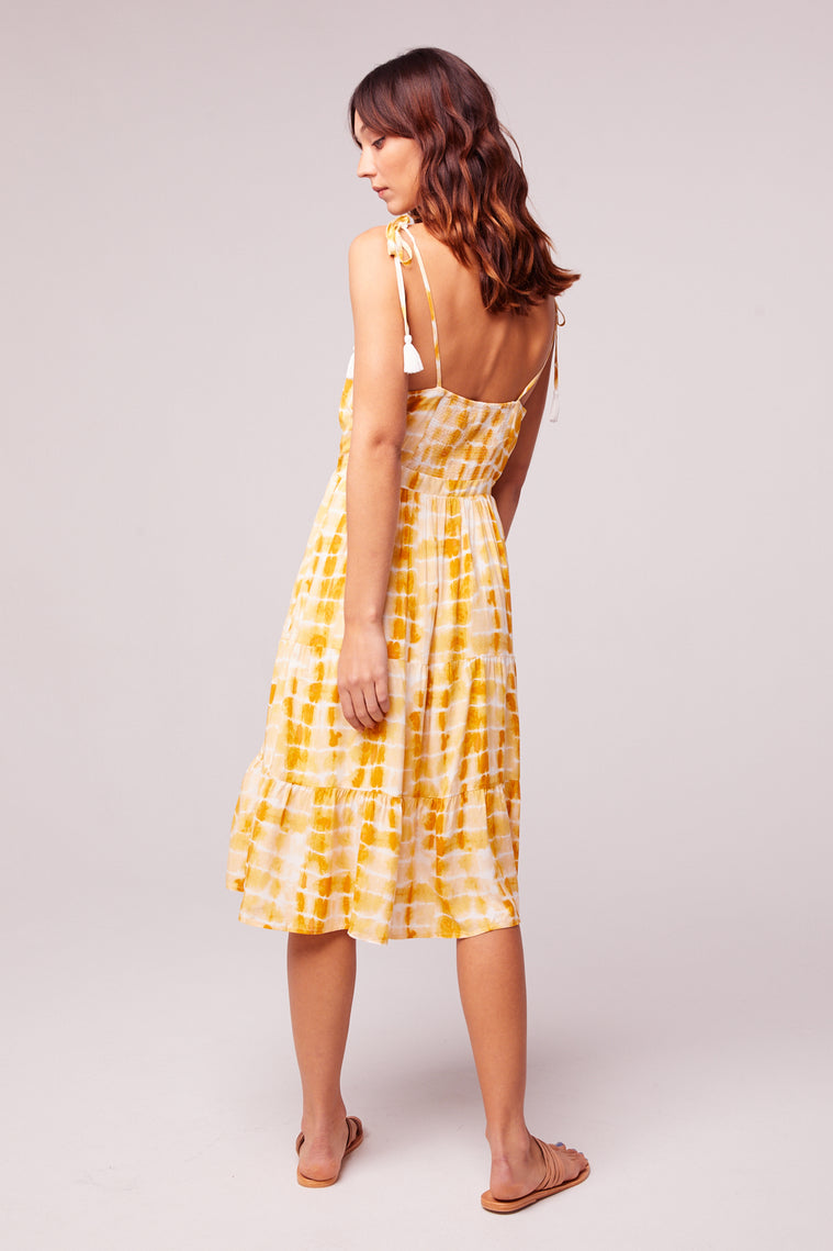 Get Me Gold Tassel Tie Dye Dress Back3