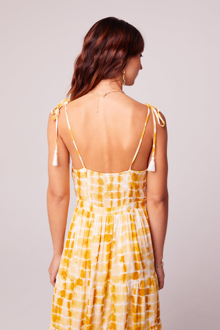 Get Me Gold Tassel Tie Dye Dress Back2