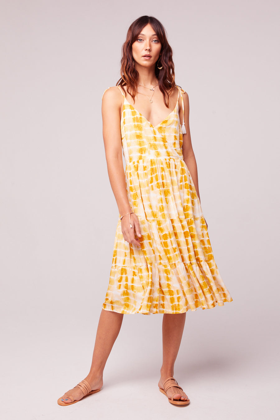 Get Me Gold Tassel Tie Dye Dress Master