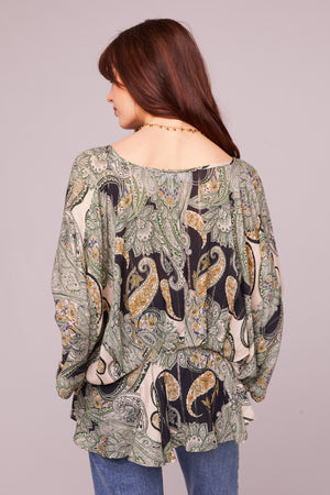 Greenleaf Ave Paisley Batwing Blouse Back