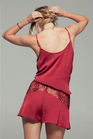 Gypsy Nights Crimson Lace Camisole Top Back