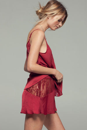 Gypsy Nights Crimson Lace Camisole Top Side