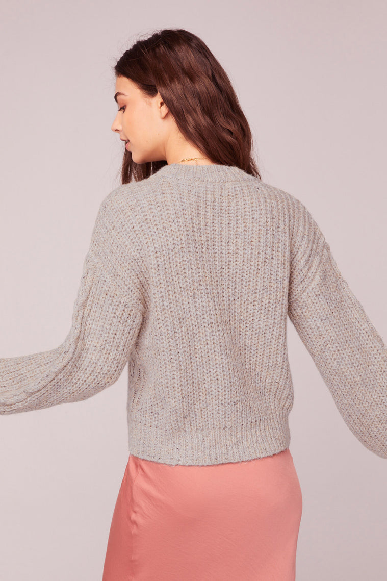 Hella Good Cable Knit Sweater Back