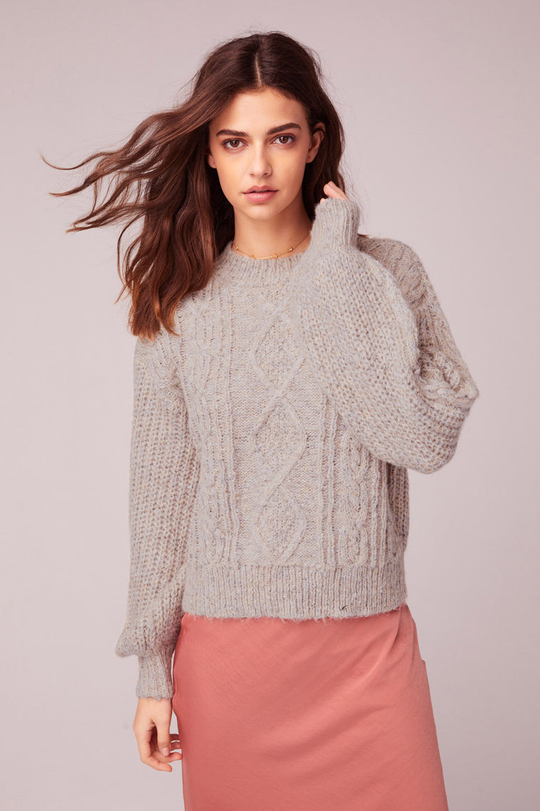 Hella Good Cable Knit Sweater Detail