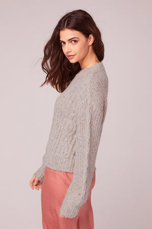Hella Good Cable Knit Sweater Side