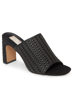 Hermosa Black Woven Vegan Leather Sandal Master