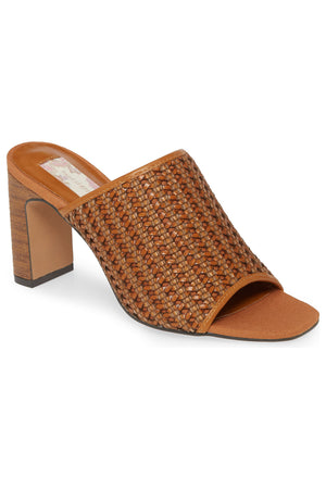 Hermosa Cognac Woven Vegan Leather Sandal Master