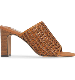 Hermosa Cognac Woven Vegan Leather Sandal Side