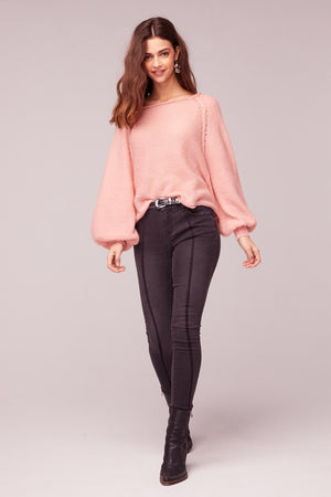 Hey Baby Blush Bishop Sleeve Sweater Master
