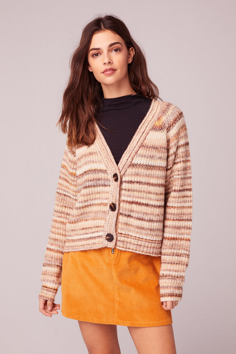 Hey You Stripe Cardigan Sweater