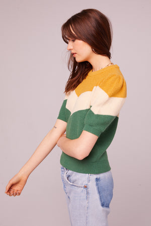 Highland Puff Sleeve Colorblock Sweater (Influencer)