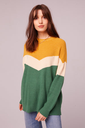 Hillhurst Long Sleeve Colorblock Sweater Master