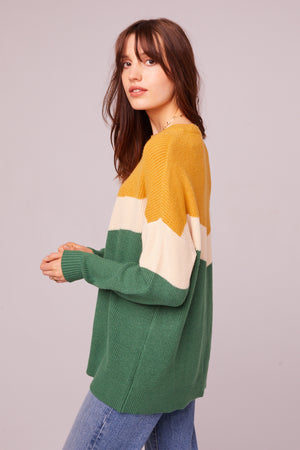Hillhurst Long Sleeve Colorblock Sweater Side