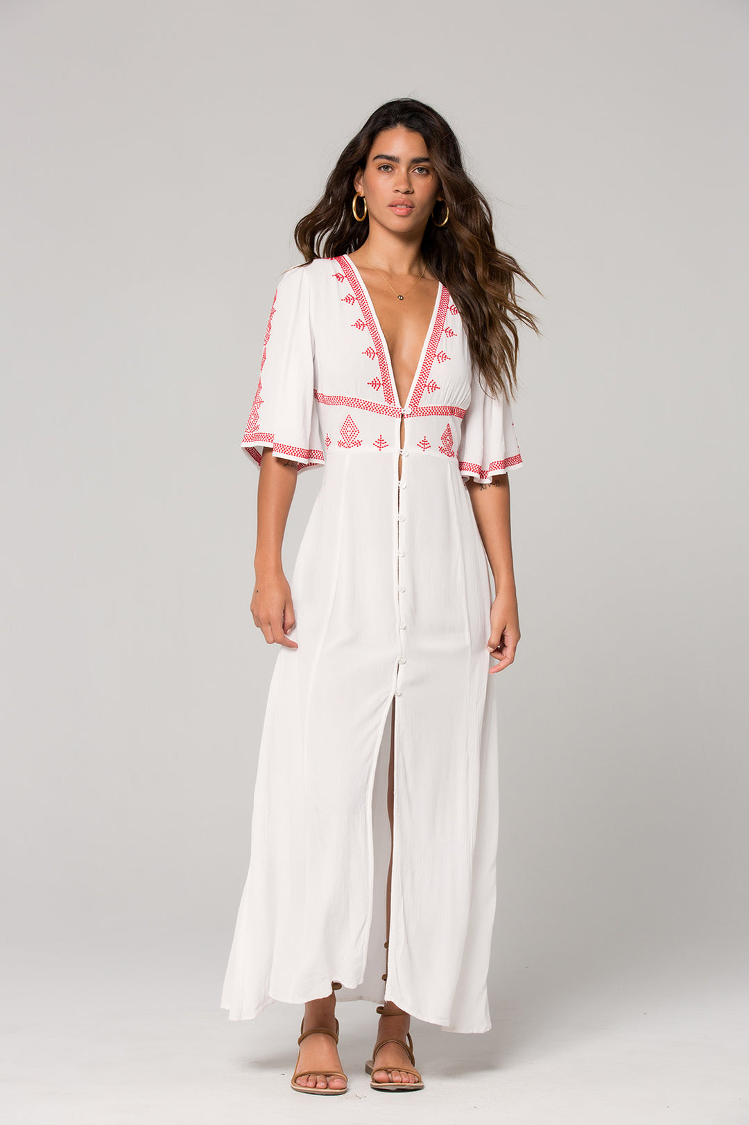 Hilo Embroidered White Maxi Dress Master