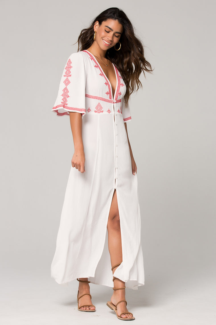 Hilo Embroidered White Maxi Dress Master 2