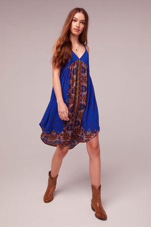 Honor Scarf Print Tie Back Dress Front