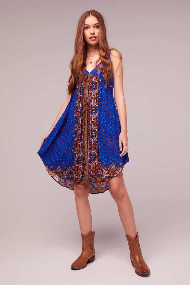 Honor Scarf Print Tie Back Dress