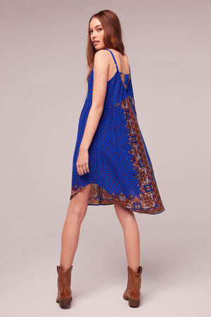 Honor Scarf Print Tie Back Dress Back